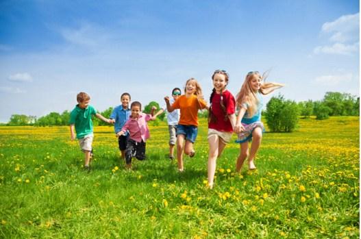 Kids In Dandelion Field Jigsaw Puzzle