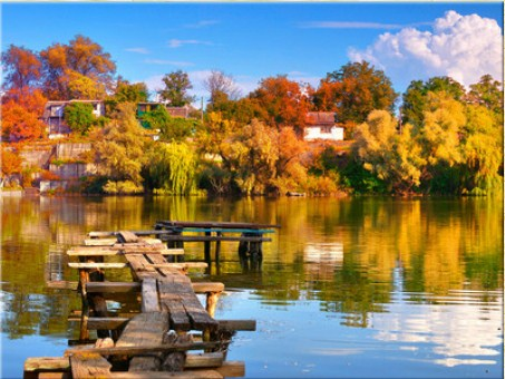 Autumn on the Lake Jigsaw Puzzle