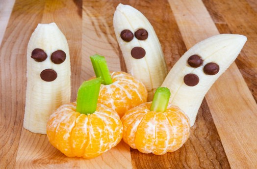 Banana Ghosts And Clementine Pumpkins Jigsaw Puzzle