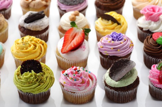 Assortment Of Colorful Cupcakes Jigsaw Puzzle