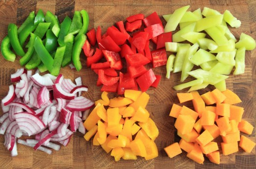 Diced Peppers And Onions Jigsaw Puzzle