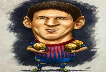 Messi Cartoon Jigsaw