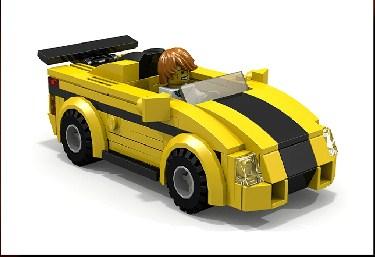 Lego Sport Car Jigsaw