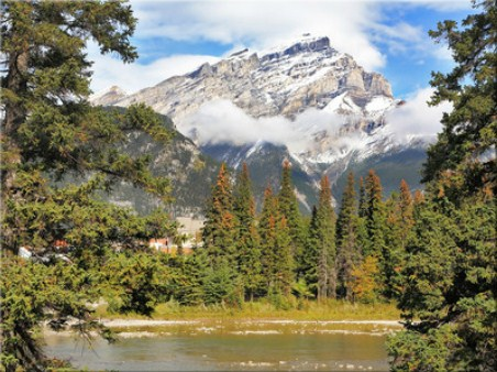 Mountains and Pines Jigsaw Puzzle