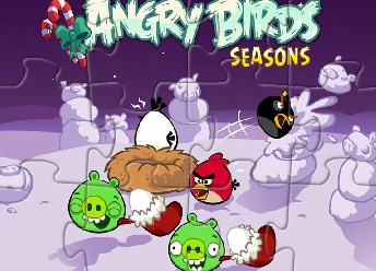 Angry Birds Winter Puzzle