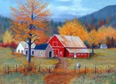 Pretty Farm Art Charles Wysocki Jigsaw Puzzle