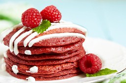 Red Velvet Pancakes Jigsaw Puzzle