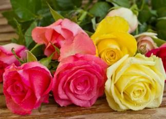 Desenhos de Bouquet of Roses Jigsaw Puzzle para colorir