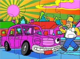 The Simpsons Pink Sedan