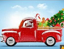 Santa Claus Red Truck