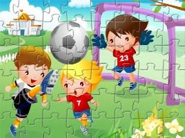 Desenhos de Football Kids Jigsaw para colorir