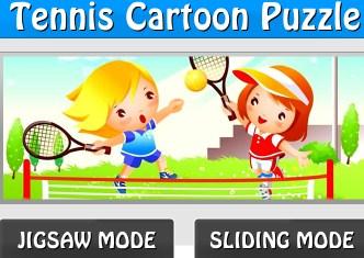 Tennis Cartoon Puzzle