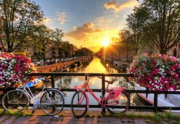 Beautiful Amsterdam Sunrise Jigsaw Puzzle