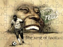 Football King Pele Puzzle