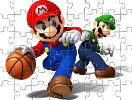Mario vs Luigi Basketball Puzzle