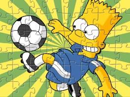 Bart Soccer Kick Puzzle