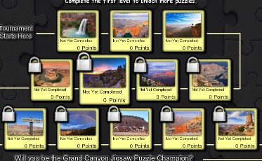 12 different Grand Canyon jigsaw