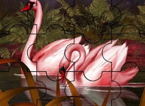 Red Dream Swans Puzzle