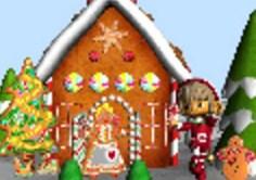 Elf and Gingerbread House Jigsaw