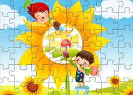 Coloring Children Jigsaw
