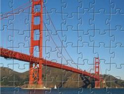 Desenhos de Golden Gate Bridge Jigsaw para colorir