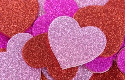 Pink And Red Glitter Hearts