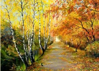 Autumn Road Jigsaw