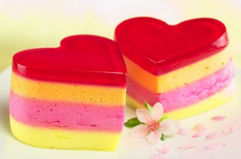 Heart Shaped Jelly Pudding