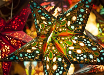 Paper Star Lanterns Jigsaw Puzzle