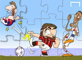 Gattuso Kicks Messi Puzzle