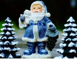 Blue Santa Claus Jigsaw Puzzle