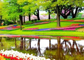 Flowers in the Park Jigsaw Puzzle