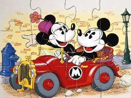 Mickey and Minnie Car