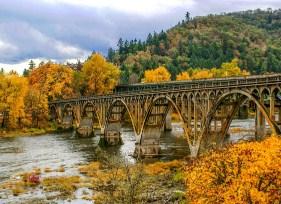 Bridge Autumn Landscape Jigsaw Puzzle