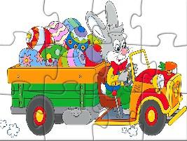 Easter Truck Jigsaw
