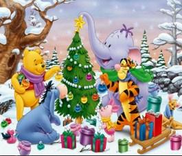 Winnie The Pooh Decorating the Tree