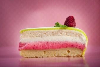 Slice Of Cake With Raspberry