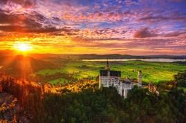 Neuschwanstein Sunset