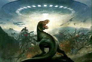 Dinosaurs vs Aliens Jigsaw