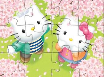 Hello Kitty In Love Jigsaw