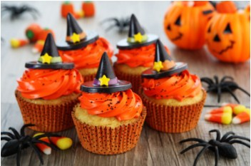 Halloween Witch Cupcakes Jigsaw Puzzle