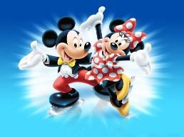 Ice skating Mickey and Minnie