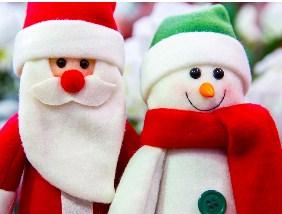 Santa And Snowman Jigsaw Puzzle
