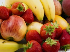Apples, Bananas And Strawberries Jigsaw Puzzle