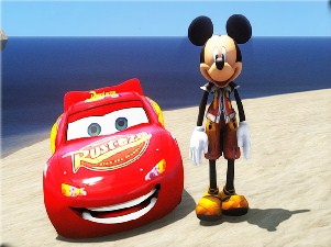 Mickey Mouse vs Lightning McQueen