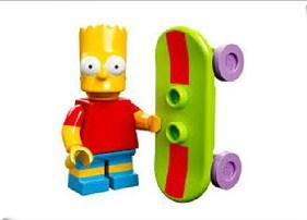 Lego Bart Simpson Skating