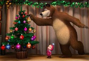 Masha and Bear Christmas Puzzle