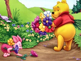 Spring Pooh and Piglet