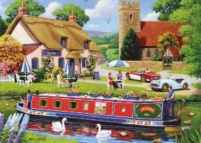Boat Inn Charles Wysocki Jigsaw Puzzle