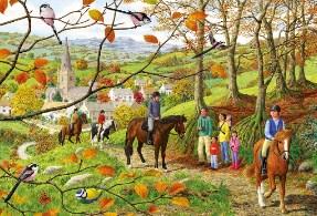 Beechwood Walk Charles Wysocki Jigsaw Puzzle